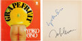 Music Memorabilia:Autographs and Signed Items, Beatles - John Lennon and Yoko Ono Signed Grapefruit Book (London: Sphere Books, 1971)....