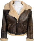 "Movie/TV Memorabilia:Costumes, A Shearling Jacket from ""Rocky IV""..."