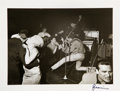 Music Memorabilia:Photos, The Beatles At The Top Ten Club Signed Photograph by Gerd Mingram,Spring 1961 (Germany, Printed 1990s). ...