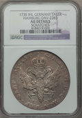 German States:Hamburg, German States: Hamburg. Free City Taler 1735-IHL AU Details (Scratches) NGC,...
