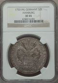 German States:Hamburg, German States: Hamburg. Free City 32 Schilling 1733-IHL XF45 NGC,...