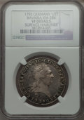 German States:Bavaria, German States: Bavaria. Karl Theodor 1/2 Taler 1792-IVS VF Details(Surface Hairlines) NGC,...