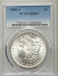 Morgan Dollars, 1882-S $1 MS65+ PCGS. PCGS Population (17660/5552). NGC Census: (18408/8106). Mintage: 9,250,000. Numismedia Wsl. Price for...