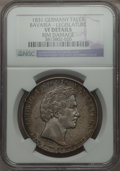German States:Bavaria, German States: Bavaria. Ludwig I Taler 1831 VF Details (Rim Damage)NGC,...