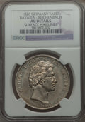 German States:Bavaria, German States: Bavaria. Ludwig I Taler 1826 AU Details (SurfaceHairlines) NGC,...
