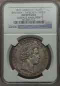 German States:Bavaria, German States: Bavaria. Ludwig I Taler 1827 AU Details (SurfaceHairlines) NGC,...