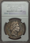German States:Bavaria, German States: Bavaria. Ludwig I Taler 1828 UNC Details (SurfaceHairlines) NGC,...