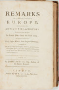 Books:Travels & Voyages, John Breval. Remarks on Several Parts of Europe, Relating Chiefly to Their Antiquities and History... London: H. Lin...
