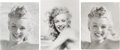 Movie/TV Memorabilia:Photos, A Marilyn Monroe Group of Black and White Photographs by Andre DeDienes, Circa 1980s....