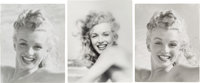 A Marilyn Monroe Group of Black and White Photographs by Andre De Dienes, Circa 1980s