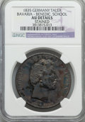 German States:Bavaria, German States: Bavaria. Ludwig I Taler 1835 AU Details (Stained)NGC,...