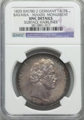 German States:Bavaria, German States: Bavaria. Ludwig I Taler 1835 UNC Details (SurfaceHairlines) NGC,...