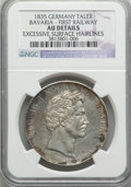 German States:Bavaria, German States: Bavaria. Ludwig I Taler 1835 AU Details (ExcessiveSurface Hairlines) NGC,...
