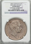 German States:Bavaria, German States: Bavaria. Maximilian II 2 Taler 1854 XF Details(Surface Hairlines) NGC,...