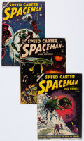 Golden Age (1938-1955):Science Fiction, Spaceman #3-6 Group (Atlas, 1953-54) Condition: Average VG....(Total: 4 Comic Books)