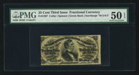 Fr. 1297 25¢ Third Issue PMG About Uncirculated 50 EPQ
