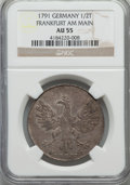 German States:Frankfurt am Main, German States: Frankfurt am Main. Free City 1/2 Taler 1791 AU55NGC,...