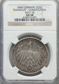 German States:Frankfurt am Main, German States: Frankfurt am Main. Free City 2 Gulden 1848 AU58NGC,...