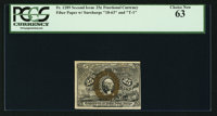 Fr. 1289 25¢ Second Issue PCGS Choice New 63
