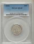 Bust Dimes: , 1836 10C XF45 PCGS. PCGS Population (23/201). NGC Census: (10/178).Mintage: 1,190,000. Numismedia Wsl. Price for problem f...