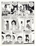 "Original Comic Art:Panel Pages, Jaime Hernandez Love and Rockets #34 ""Wig Wam Bam"" Part 2 Page 9 Original Art (Fantagraphics, 1990)...."