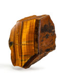 Lapidary Art:Carvings, Polished Tiger's Eye. South Africa. 5.04 x 4.53 x 2.39inches (12.82 x 11.53 x 6.08 cm). ...