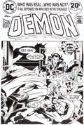 Original Comic Art:Covers, Bruce McCorkindale The Demon #15 Cover Recreation KlarionOriginal Art (undated)....