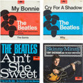 """Music Memorabilia:Recordings, Beatles And Tony Sheridan Singles """"My Bonnie,"""" """"Cry For A Shadow,""""""""Ain't She Sweet,"""" and """"Skinny Minny"""" Singles Group (Polydo..."""