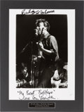 Music Memorabilia:Autographs and Signed Items, Beatles - Peter Bruchmann Photograph of John Lennon, GeorgeHarrison, and Stuart Sutcliffe Signed by Pete Best and TonySherid...