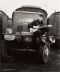 "Music Memorabilia:Autographs and Signed Items, Beatles - Astrid Kirchherr Signed Large Format Photograph of JohnLennon, ""Truck"" (Hamburg, 1960)...."