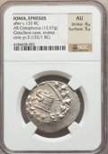 Ancients:Greek, Ancients: IONIA. Ephesus. Ca. 180-67 BC. AR cistophoric tetradrachm(12.67 gm)....