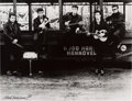 "Music Memorabilia:Photos, Astrid Kirchherr Signed Large Format Photograph ""The Beatles At TheHamburg Fun Fair"" (Hamburg, 1960)...."