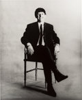 "Music Memorabilia:Photos, Beatles - Astrid Kirchherr Signed Large Format Photograph of RingoStarr, ""Chair"" (Hamburg, 1962)..."
