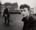 "Music Memorabilia:Photos, Beatles - Astrid Kirchherr Signed Photograph of John Lennon andStuart Sutcliffe, ""Hamburg Fun Fair"" (Hamburg, 1960)..."