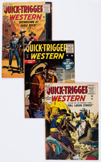 Quick-Trigger Western #12-19 Complete Run Group (Atlas, 1956-57) Condition: Average VG-.... (Total: 8 Comic Books)