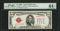 Small Size:Legal Tender Notes, Fr. 1528* $5 1928C Legal Tender Note. PMG Choice Uncirculated 64 EPQ.. ...