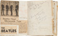 Music Memorabilia:Memorabilia, A Liverpool Beatles Fan's Autographed Scrapbook (UK, 1962-63)....