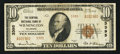 National Bank Notes:Delaware, Wilmington, DE - $10 1929 Ty. 2 The Central NB Ch. # 3395. ...
