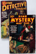 Pulps:Horror, Dime Mystery/Dime Detective Group of 2 (Popular, 1935-37)....(Total: 2 Comic Books)