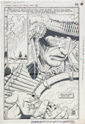 Original Comic Art:Splash Pages, Sam Glanzman and Mike Esposito Losers Special #1 Death ofthe Losers Splash Page #40 Original Art (DC, 1985)....
