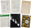 Music Memorabilia:Memorabilia, An Archive of German and English Record Company Documents Relatedto The Beatles (Germany, 1960s).. ...