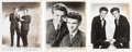 Music Memorabilia:Autographs and Signed Items, Everly Brothers - Set Of Three Signed Promotional Photos (CircaLate-1950s)....