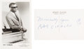 Music Memorabilia:Autographs and Signed Items, Ray Charles - Signed Postcard....