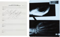 Music Memorabilia:Autographs and Signed Items, Mötley Crüe -- A Tommy Lee Signed Medical Form and Hand X-Ray,1992....