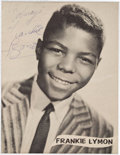 Music Memorabilia:Autographs and Signed Items, Frankie Lymon Signed Photograph....