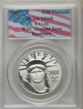 2001 $100 One-Ounce Platinum Eagle MS68 PCGS....(PCGS# 9789)