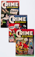 Golden Age (1938-1955):Crime, Crime Mysteries #3, 8, and 11 Group (Ribage Publishing, 1952-54).... (Total: 3 Comic Books)