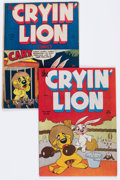 Golden Age (1938-1955):Funny Animal, Cryin' Lion Comics #1 and 2 Group (Wm. H. Wise & Co., 1944)....(Total: 2 Comic Books)