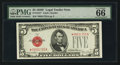 Small Size:Legal Tender Notes, Fr. 1531* $5 1928F Legal Tender Note. PMG Gem Uncirculated 66 EPQ.. ...