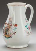 Asian:China Trade, A Chinese Export Armorial Porcelain Water Pitcher, 18th century.12-1/2 inches high (31.8 cm). ...